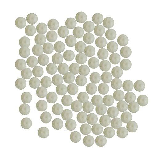 KESOTO 100x Transparente Glasmurmeln Glaskugel Glasperlen, geeignet für Ornament DIY und Sammeln (Glaskugel Klare Kleine Ornamente)