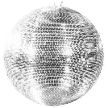 """Kit di luce da discoteca /""""GLIX FEVER/"""" con: sfera specchiata argentata /Ø 20 cm decorazione disco showking motore rotante"""