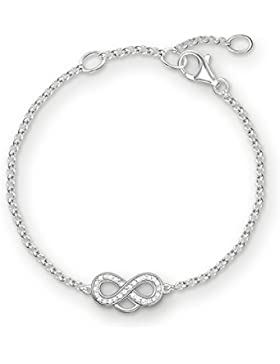 Thomas Sabo Damen-Armband Charm Club 925 Sterling Silber Länge von 16.5 bis 19.5 cm X0203-051-14-L19,5v