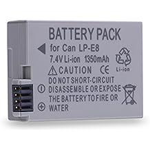Expresstech @ Reemplazo batería LP-E8 LPE8 1350mAh para Canon EOS 550D 600D 650D 700D CANON EOS Kiss X4 X5 X6 T2i T3i T4i T5i