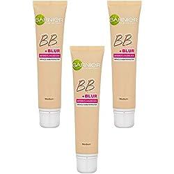 Garnier - SkinActive - BB Crème + Blur Medium - Soin miracle perfecteur + base correctrice lissante - Ptiparis Lot de 3