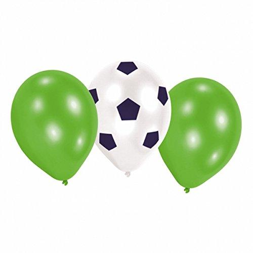studio four Party Deko Ballons Fußball Design Feier 6 Stück, Mehrfarbig