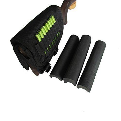 Tourbon come caccia e destra per fucile Buttstock Cheek-Cartucce per porta, colore: nero
