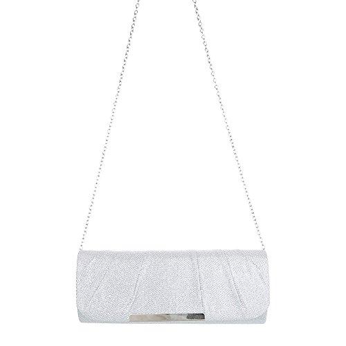 Taschen Schultertasche Abendtasche Modell Nr.1 Silber