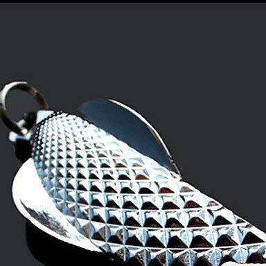 1 Stück Metallköder Angelköder Löffel Silber g/Unze, 53 mm / 2-1/8 'Zoll, Metall Köder Casting -