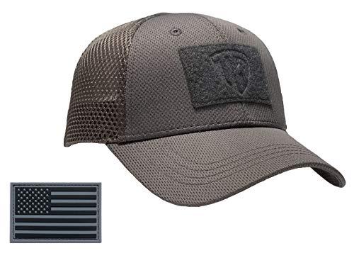 Terra Kuda Tactical Operator Cap -Flex Mesh Snapback Hat- Low Profile - -  One Size