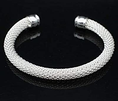 Designer Inspired Knot Mesh Bangle Bracelet Solid Sterling Silver 925 Plated : everything 5 pounds (or less!)