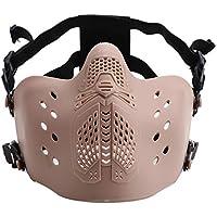 JUSTDOLIFE Máscara Facial al Aire Libre Media Cara Protectora Máscara de Airsoft Máscara de Juego Máscara de Paintball
