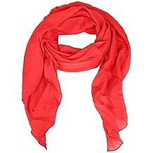 cc3143d43e20e9 Cashmere Dreams Seiden-Tuch im Uni Design - Hochwertiger Schal für Damen  Mädchen - Halstuch