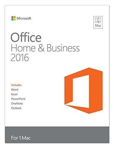 Microsoft W6F-00550 - OFFICE MAC HOME BUSINESS 2016 - Office Home & Business 2016 for Mac, 1PK, EN, EuroZone Medialess