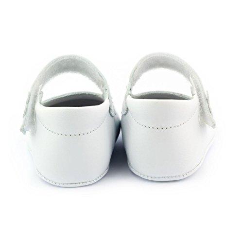 Boni Bianca - Chaussons bébé cuir souple Blanc