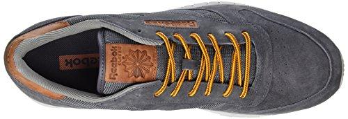 Reebok Classic Leather Ol, Scarpe da Ginnastica Basse Uomo Grigio (Ash Grey/steel/horizon Blue/semi Solar Gold/orange Ginger)