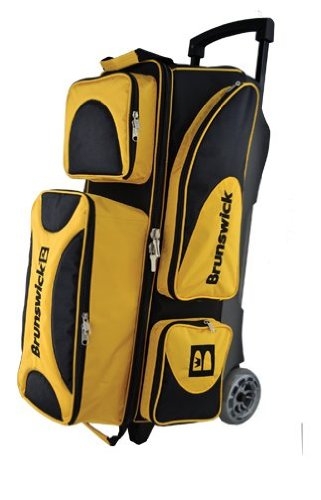 Brunswick Flash X Triple Roller Bowling Bag-Gold -