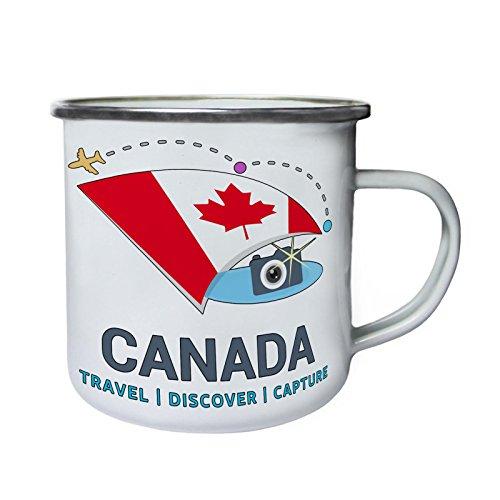Neue Kanada Reise Entdecken Retro, Zinn, Emaille 10oz/280ml Becher Tasse m416e - Entdecken Kanada