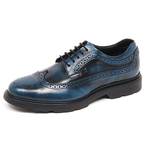 Hogan E4978 Scarpa Inglese Uomo Blu/Nero H304 Scarpe Sfumata Shoe Man [7.5]