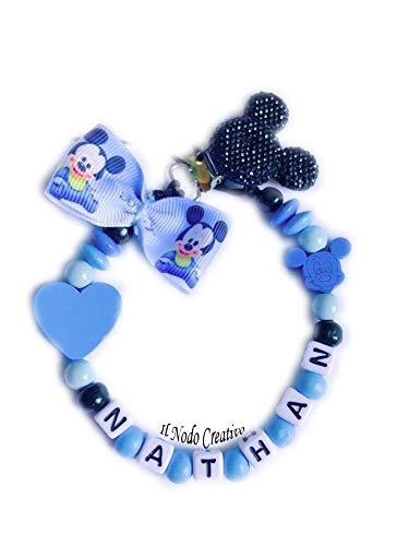 Baby schnullerkette mit namen   Mickey Mouse Disney   anpassbare Name
