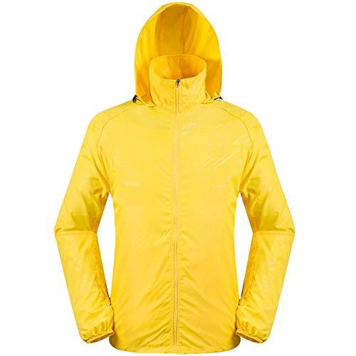 Impermeable amarillo con Capucha para Hombre