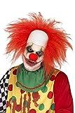 Smiffy's- Deluxe Parrucca da Clown con Testa Calva Uomo, Rosa, 26 x 16 x 7.5 cm, 44898