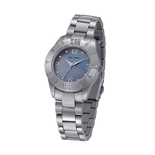 Time Force Reloj Analógico para Mujer de Cuarzo con Correa en Acero Inoxidable TF4017L03M
