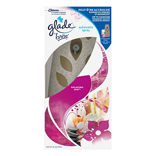 Glade By Brise Automatic Spray Désodorisant, Fraîcheur et Parfum d'Ambiance dans la Maison, Recharge Incluse (269 ml), Relaxing Zen