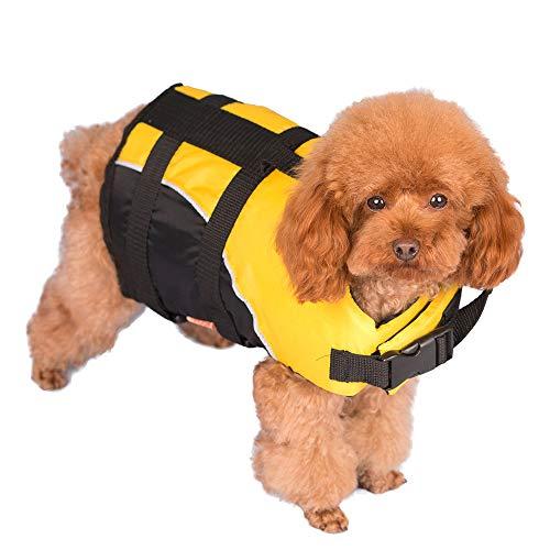 FIYOMET Hund Schwimmweste Pet Jacken Badeanzug Sommer Schwimmen Haustiere Kleidung Bewegung
