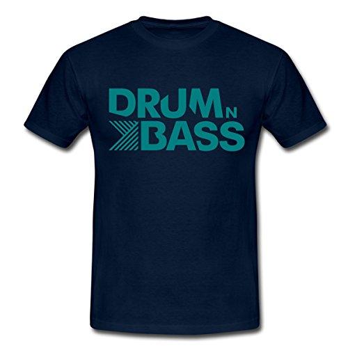Spreadshirt Drum n Bass Männer T-Shirt, L, Navy