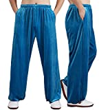 TGAICHO Loose Fit Casual Herbst Winter Martial Arts Trainingshose, Unisex Tai Chi Hose Mit...