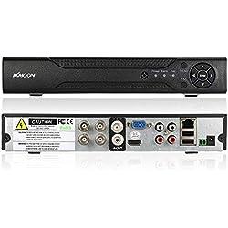 KKmoon 4 Kanal 1280 * 720P CCTV Netzwerk DVR H.264 HDMI Digital Video Rekorder Haussicherheitssystem Alarm per E-Mail