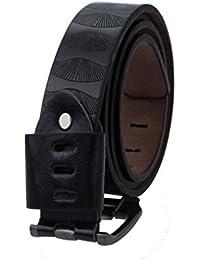 BONAMART ® Damen Herren Unisex Leder Gürtel Belt 3.6x115cm