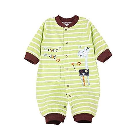 Pyjama Grenouillere Girafe - LSERVER Pyjama Bébé Fille Garçon Grenouillère Combinaisons