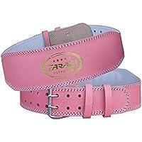 Farabi Levantamiento de pesas cinturón rosa gimnasio Fitness espalda apoyo de cargas pesadas (pequeño)
