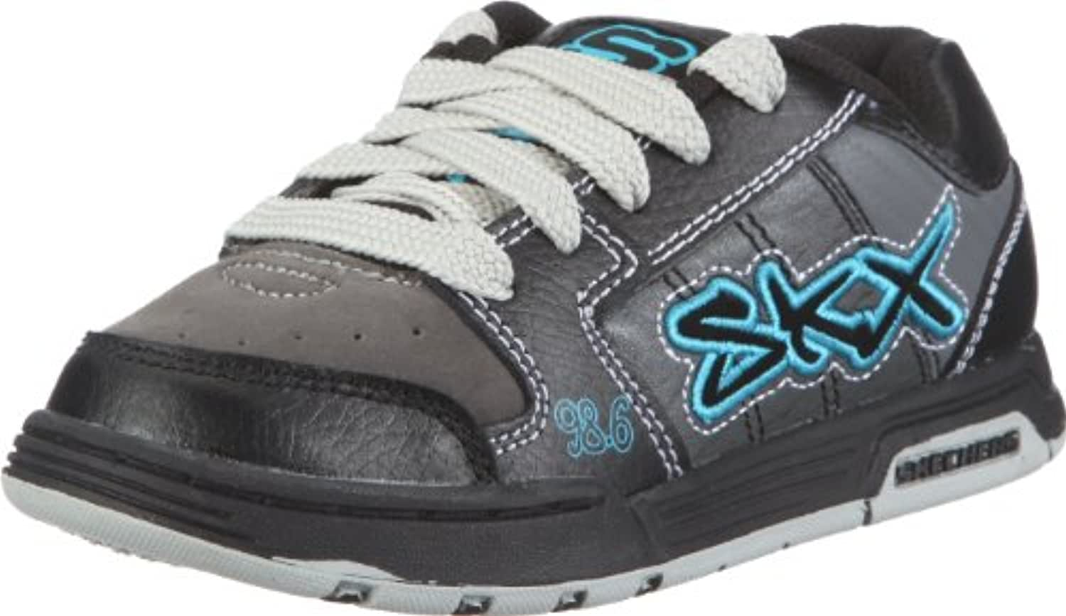 Skechers Boys' Endorse Stream Low-Top Sneakers Black Size: 12 Child UK