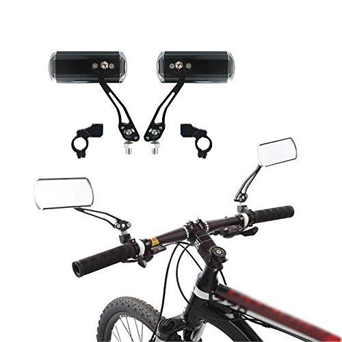 AIU 1 Paar Fahrrad Rückspiegel Fahrradspiegel 360°Drehung 2 Stück