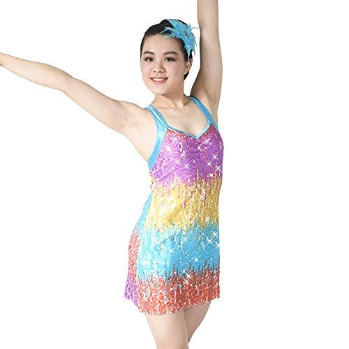 So Was Rainbow A-Line Umfasst Lyrischen Kleid Tanzen Kostüm (MC, Mehrfarbig) (Lyrische Kleid Dance Kostüme)