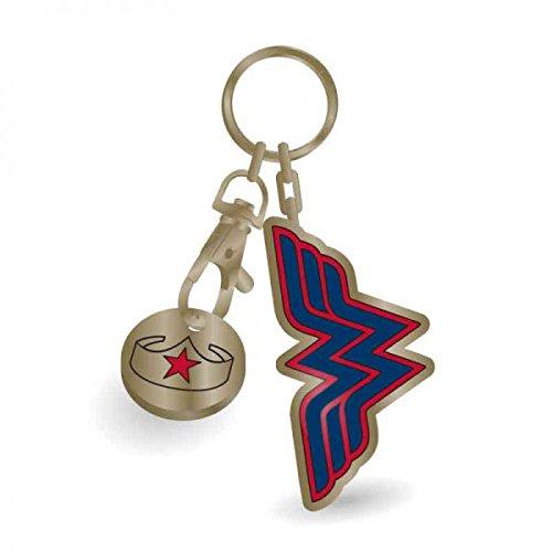 Wonder Woman Metal Keychain Stars 5 cm Half Moon Comics Portachiavi