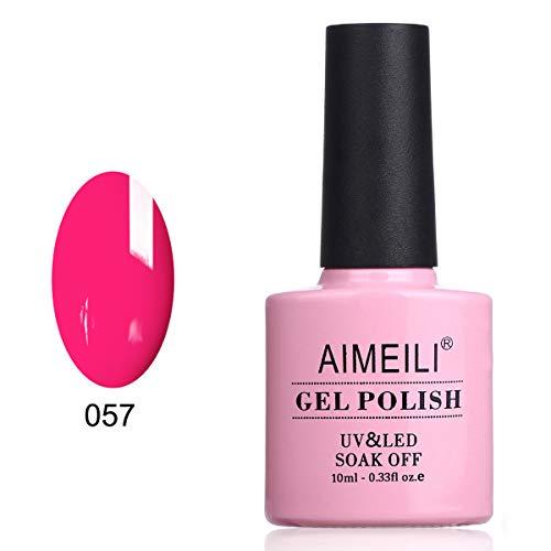 AIMEILI Smalto Semipermente per Manicure Smalti per Unghie in Gel Soak Off UV LED - Neon Very Berry (057) 10ml