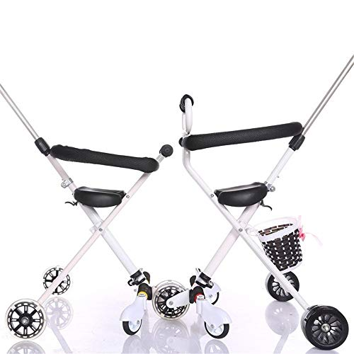 ZHIJINLI Slip baby artifact simple folding lightweight baby five round 1-3-6 years old male and female baby height adjustable trolley 悍 horsewheel soft seat