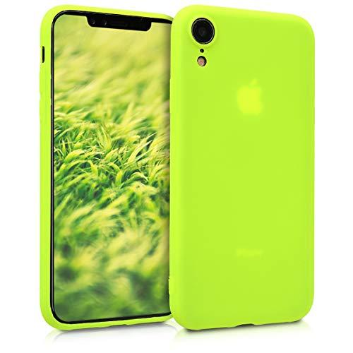 kwmobile Apple iPhone XR Hülle - Handyhülle für Apple iPhone XR - Handy Case in Neon Gelb Iphone-gadget