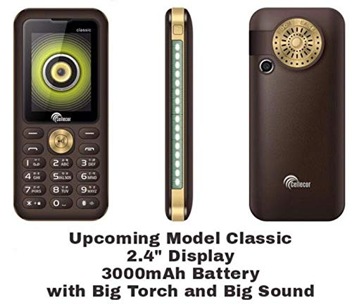 Rpatel™ For Cellecor Classic Mobile Phone 2.4 Display And Big Speaker 3500Mah Battery
