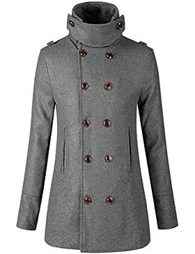 [Patrocinado]Escudo, abrigo,Internet Abrigo de abrigo de chaqueta caliente de mujer Abrigo largo delgado con doble botonadura