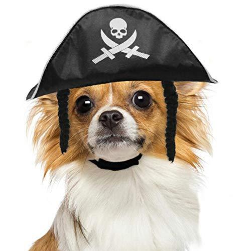 CJN Halloween PET Piraten Party Hut, Piraten-Accessoires, Katze Und Hund PIRATENKOSTÜM, Piraten Spielzeug, Hut Kostüm-Geburtstag, Kostüm Party, Rollenspiel, Geschenk, Party