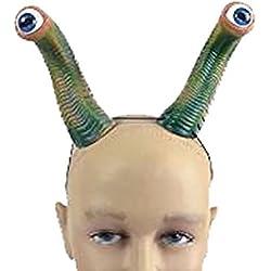 Bristol Novelty. Ojos de alien sobre diadema MD209, adultos, unisex, multicolor. Talla única
