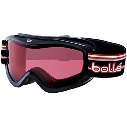 Bolle Volt Kids Ski Goggles, Black Stripes Frame, Vermillion Lens 20604-WIN by (Black Frame Vermillion Lens)