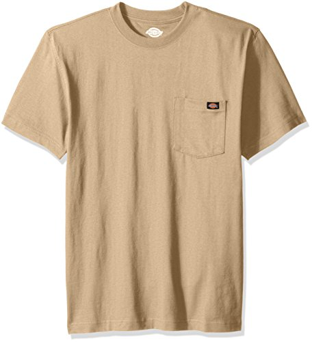 Dickies Men's Short Sleeve Heavyweight Crew Neck T-Shirt, Desert Sand, Small (T-shirt Dickies-heavyweight)