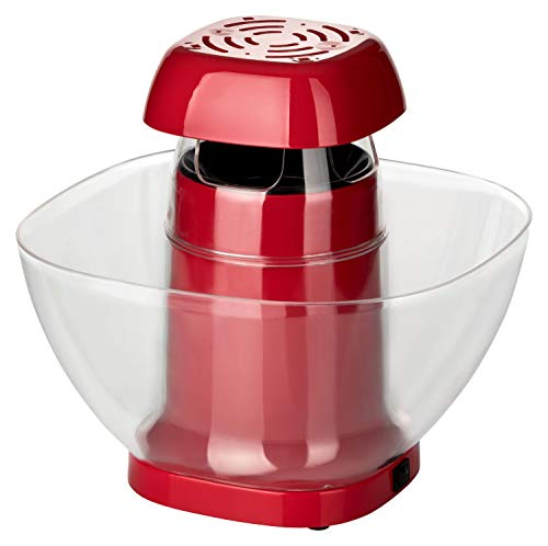Popcorn Maker XL 1200W | Popcorn für die ganze Familie | Einfach & praktisch mit Heißluftzirkulation ohne Öl | 4 Min Zubereitungszeit | Für 40-60 Gramm Mais | Popcornmaschine mit abnehmbarem Behälter