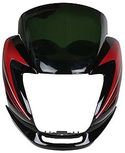 Sai SAI-159 Headlight Visor for Hero Passion Pro (Black and Red)
