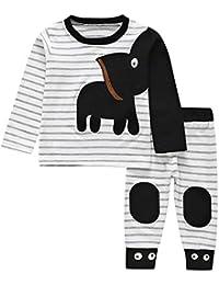 Babykleidung Jungen Set,Covermason Neugeborenes Jungen Mädchen Elefant  Gestreifter Druck T-Shirt Oberteile Tops b368bff6ad