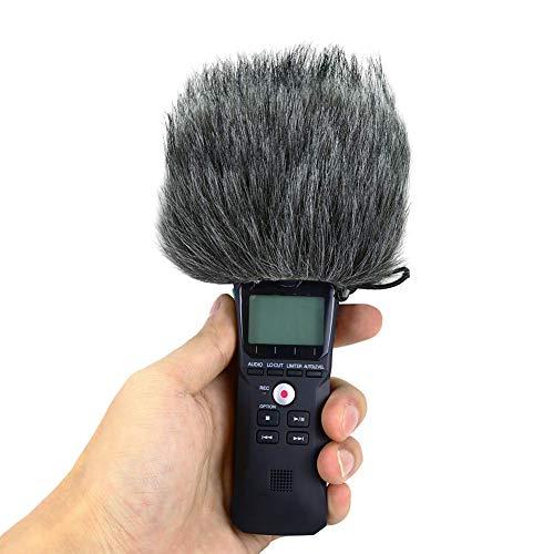 Sedensy Parabrezza per Microfono Zoom H1, per Esterni, Rimovibile, Antivento, cancellazione del Rumore, Grigio, Taglia Libera
