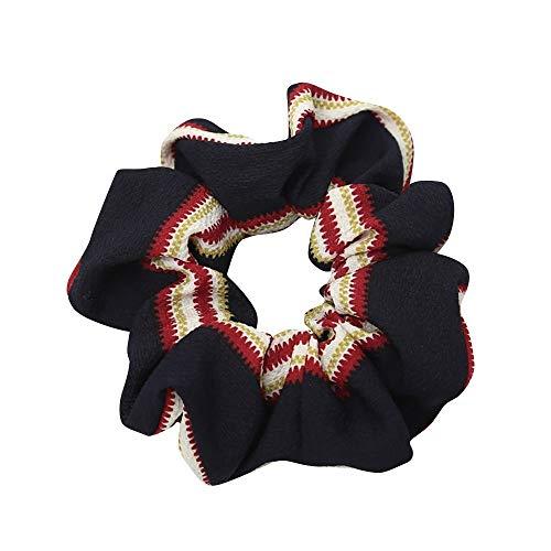 LUGOW Damen Yoga Stirnbänder Elastic Nettes Turban Geknotetes Bandanas Turban Head Wraps Hair Beads Breit Haarbänder Haarreife Haarspangen Haargummis Haarschmuck(Z04193-Schwarz)