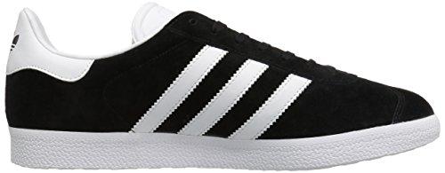 Adidas Mens Gazelle Nubuck Trainers Noir Blanc